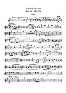 Poem in E Flat Major, Op.25: Oboes parts by Ernest Chausson