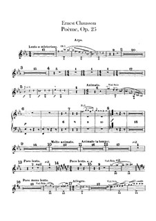 Poem in E Flat Major, Op.25: Harp part by Ernest Chausson