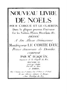 Livre de Noëls: No.1-6 by Louis Claude  Daquin