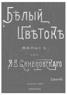 Waltz 'White Flower': For piano by Jacob Simenovsky