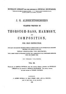 Collected Writings on Thorough-Bass, Harmony and Composition: Volume III by Johann Georg Albrechtsberger