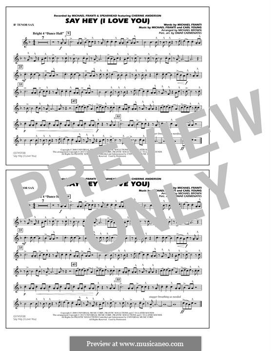 Say Hey (I Love You): Bb Tenor Sax part by Carl Young
