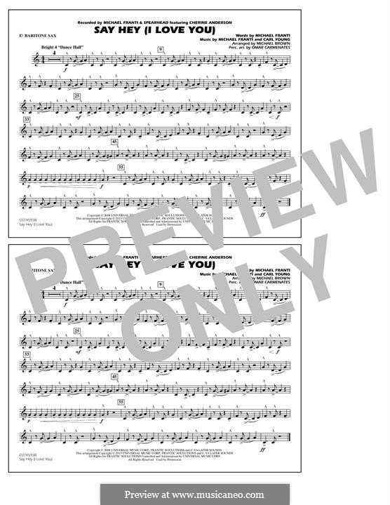 Say Hey (I Love You): Eb Baritone Sax part by Carl Young