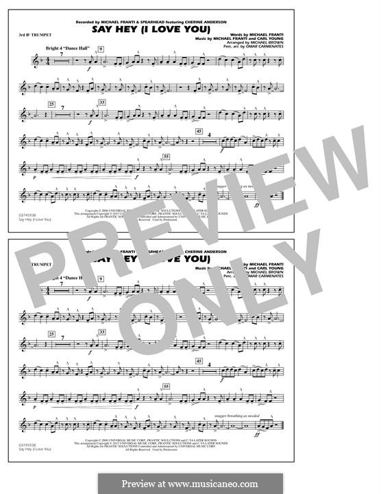 Say Hey (I Love You): 3rd Bb Trumpet part by Carl Young
