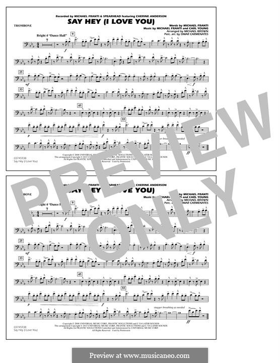 Say Hey (I Love You): Trombone part by Carl Young