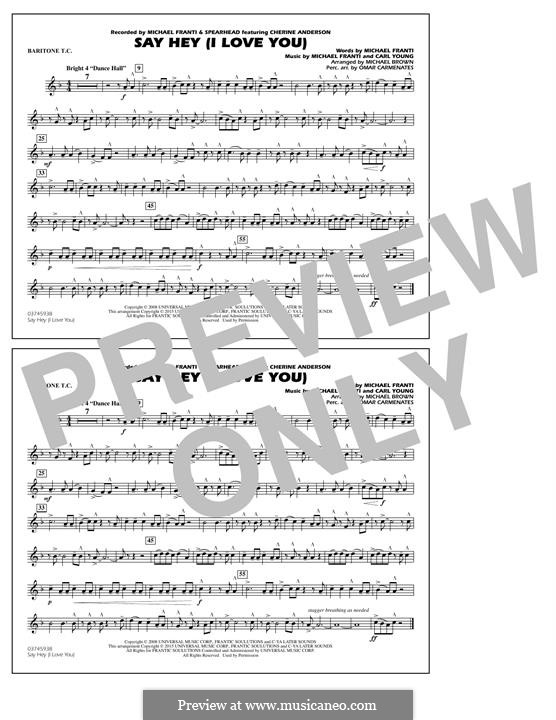 Say Hey (I Love You): Baritone T.C. part by Carl Young