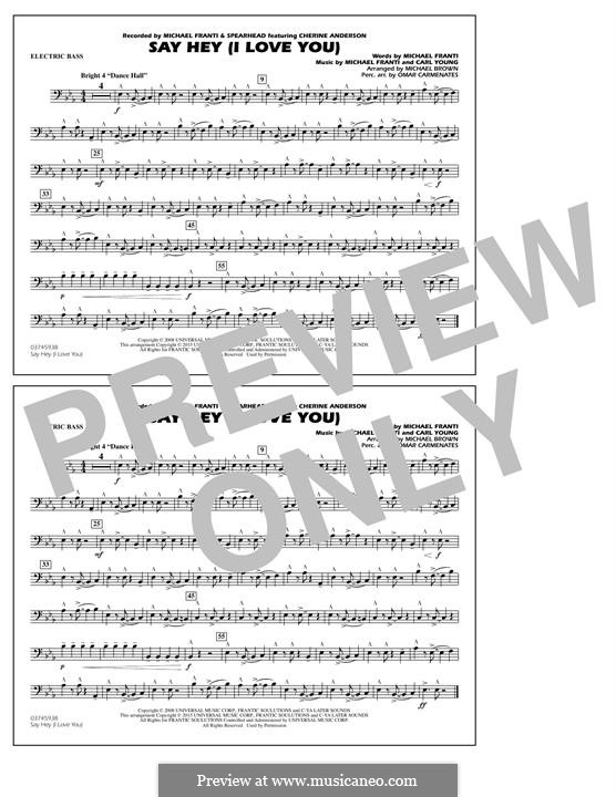 Say Hey (I Love You): Electric Bass part by Carl Young