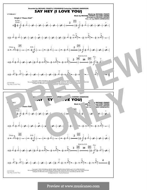 Say Hey (I Love You): Cymbals part by Carl Young