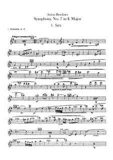 Symphony No.7 in E Major, WAB 107: Clarinets parts by Anton Bruckner
