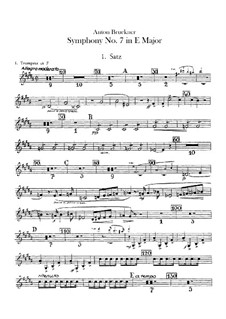 Symphony No.7 in E Major, WAB 107: Trumpets parts by Anton Bruckner