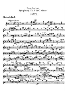 Symphony No.8 in C Minor, WAB 108: Clarinets parts by Anton Bruckner