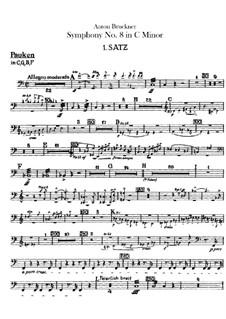 Symphony No.8 in C Minor, WAB 108: Percussions parts by Anton Bruckner