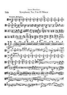 Symphony No.9 in D Minor, WAB 109: Viola part by Anton Bruckner