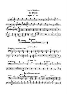 Te Deum Laudamus, WAB 45: Timpani parts by Anton Bruckner