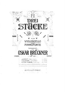 Andacht, Op.53 No.1: Score for cello and piano by Oscar Brückner