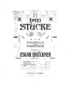 Moment Musical, Op.53 No.3: Score for cello and piano by Oscar Brückner