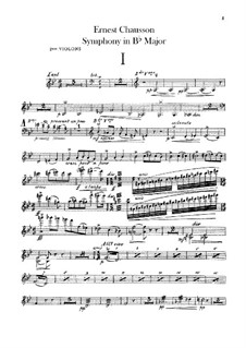 Symphony in B Flat Major, Op.20: Violins II part by Ernest Chausson
