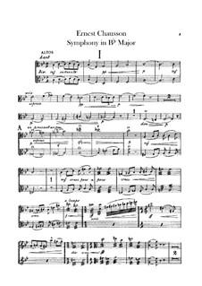 Symphony in B Flat Major, Op.20: Violas part by Ernest Chausson
