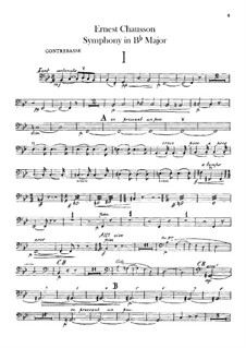 Symphony in B Flat Major, Op.20: Double basses part by Ernest Chausson