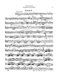 Anacreon, ou L'amour fugitif: Overture – Bassoons I-II Parts by Luigi Cherubini
