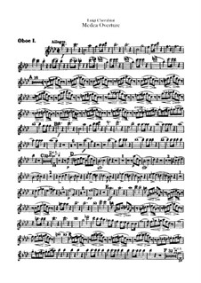 Medea: Overture – Oboes I-II Parts by Luigi Cherubini