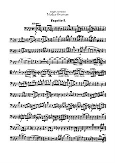 Medea: Overture – Bassoons I-II Parts by Luigi Cherubini