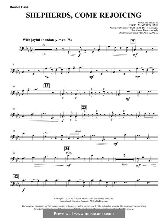 Shepherds, Come Rejoicing (from Voices of Christmas): Double Bass part by Joseph M. Martin