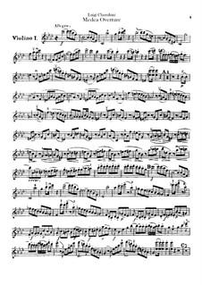 Medea: Overture – Violins I-II Parts by Luigi Cherubini