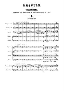 Requiem in C Minor: Full score by Luigi Cherubini