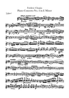 Complete Concerto: Violins I-II parts by Frédéric Chopin