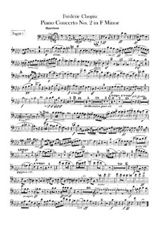 Complete Concerto: Bassoons I-II parts by Frédéric Chopin