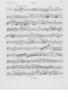 Complete Concerto: Flute I part by Frédéric Chopin