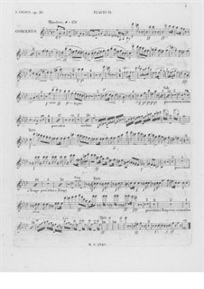 Complete Concerto: Flute II part by Frédéric Chopin