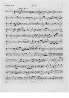Complete Concerto: Oboe I part by Frédéric Chopin