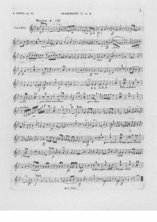 Complete Concerto: Clarinet II part by Frédéric Chopin