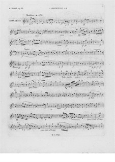 Complete Concerto: Clarinet I part by Frédéric Chopin
