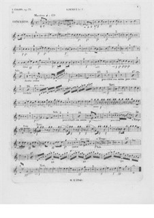 Complete Concerto: French horn I part by Frédéric Chopin