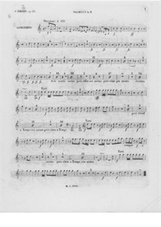Complete Concerto: Trumpet I part by Frédéric Chopin