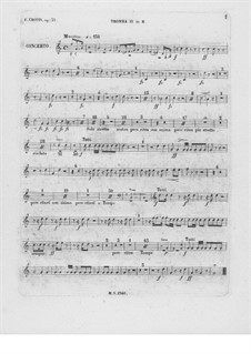 Complete Concerto: Trumpet II part by Frédéric Chopin