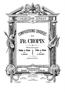 No.15 in D Flat Major: For violin (or flute) and piano by Frédéric Chopin