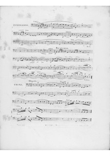 Variations on Theme 'Là ci darem la mano' from 'Don Giovanni' by Mozart, Op.2: Cello and double bass part by Frédéric Chopin