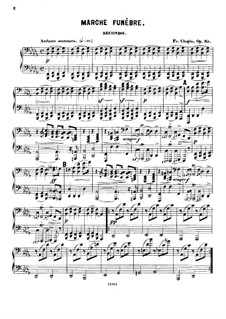 Sonata for Piano No.2 in B Flat Minor, Op.35: For piano four hands by Frédéric Chopin