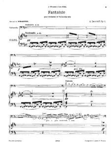 Allegro de concert, Op.11: Score by Karl Julevich Davydov