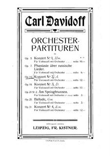Cello Concerto No.2 in A Minor, Op.14: Full score by Karl Julevich Davydov