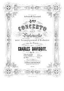 Cello Concerto No.4 in E Minor, Op.31: Solo part by Karl Julevich Davydov