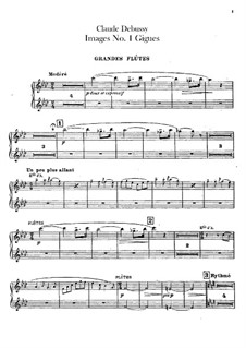 Set III, No.1 Gigues, L.122: Flutes parts by Claude Debussy