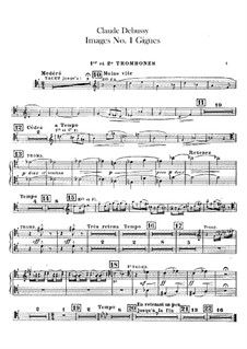 Set III, No.1 Gigues, L.122: Trombones parts by Claude Debussy