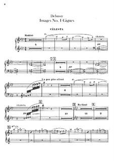 Set III, No.1 Gigues, L.122: Celestas part by Claude Debussy