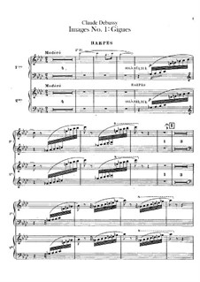 Set III, No.1 Gigues, L.122: Harps part by Claude Debussy