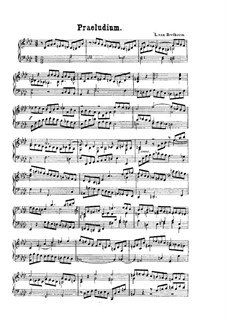 Prelude, WoO 55: For piano by Ludwig van Beethoven